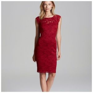 Laundry Red Lace Dress Sz 0 (R15)